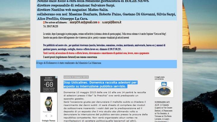Stop Usticalines. Domenica raccolta adesioni per esposto su interruzione pubblico servizio – Eolie news