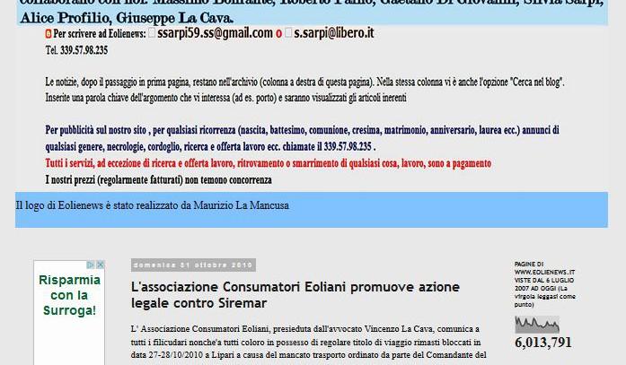 L'associazione Consumatori Eoliani promuove azione legale contro Siremar – Eolie News