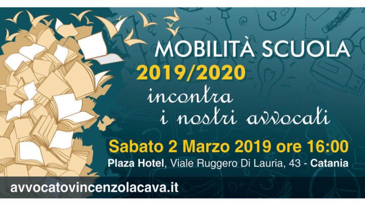MOBILITA' 2019/2020; DA  CATANIA INIZIA IL NOSTRO TOUR