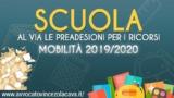MOBILITA' 2019/2020: RICORSI AL VIA LE PRE ADESIONI