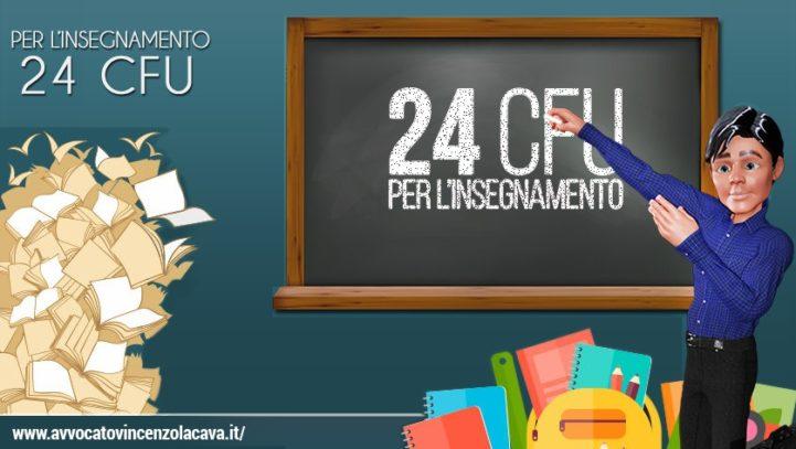 RICORSO 24 CFU PER  INSERIMENTO IN II FASCIA GRADUATORIA ISTITUTO